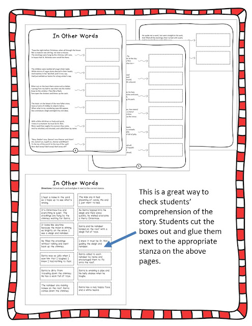https://www.teacherspayteachers.com/Product/A-Visit-From-St-Nicholas-Twas-the-Night-Before-Christmas-Comprehension-Pack-2882249