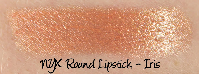 NYX Round Lipstick - Iris Swatches & Review