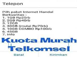 Paket Internet Murah Telkomsel 30-45GB Mulai 65rb Untuk 2 bulan
