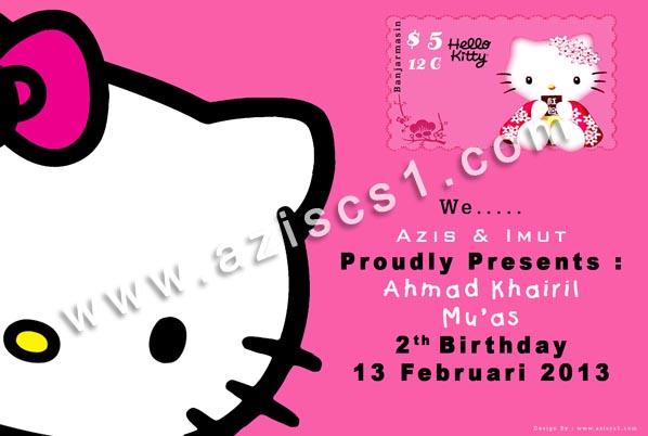 Undangan Ultah Balita Motif Hello Kitty Psd Blog Azis Grafis