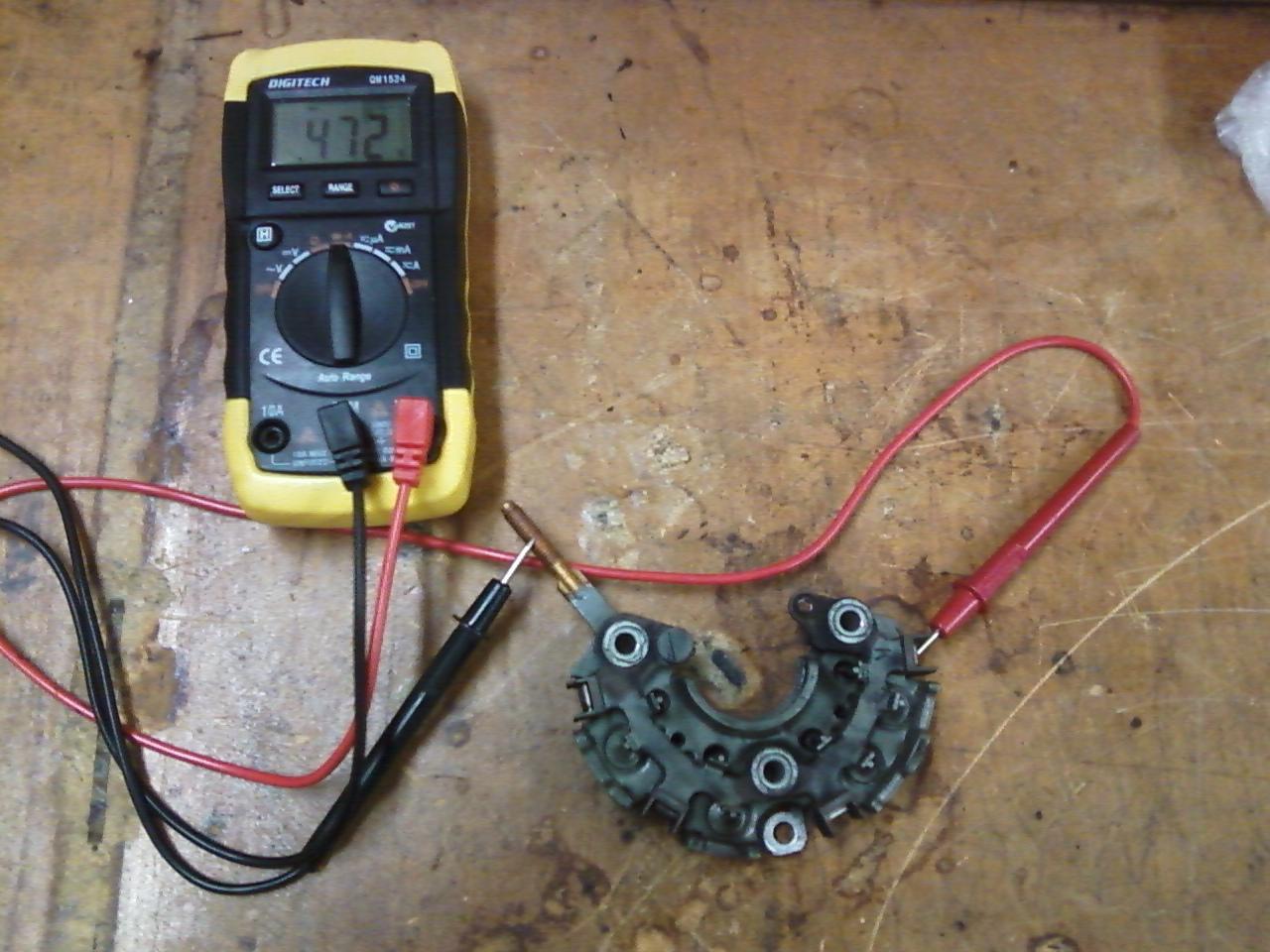 ford alternator diode testing capacitor start motor wiring diagram craftsman ttec 4841