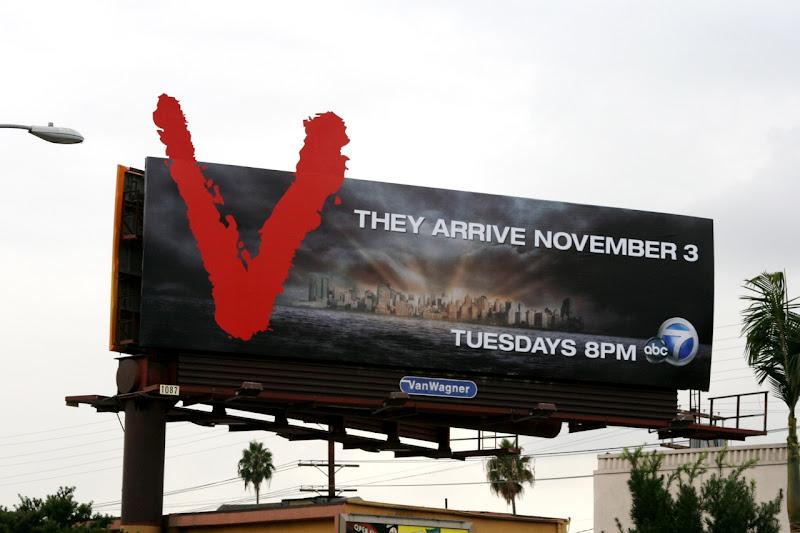 V season 1 TV billboard