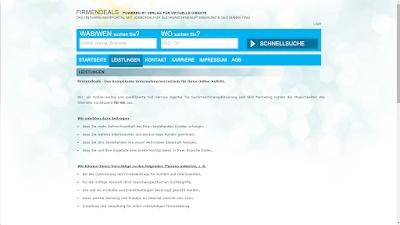 Verlag für virtuelle Dienste - Firmendeals - Screenshot - Carmen Homer - www.firmendeals.de