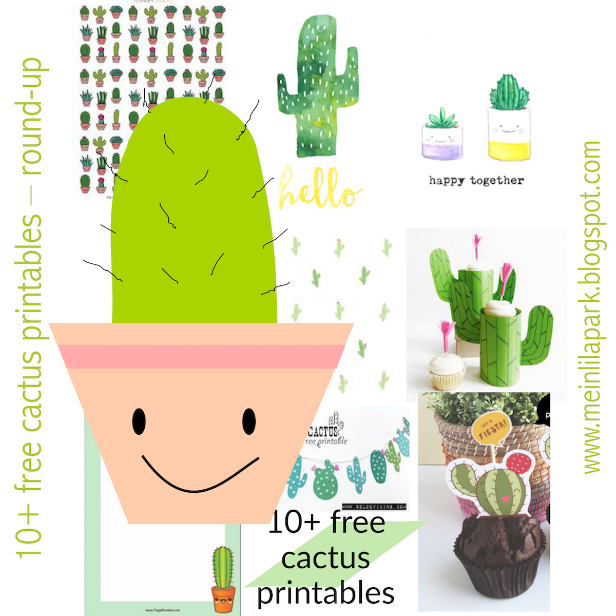 This is a graphic of Accomplished Free Cactus Printable
