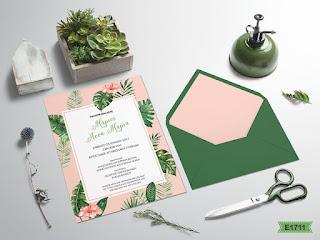 wedding invitations tropical theme