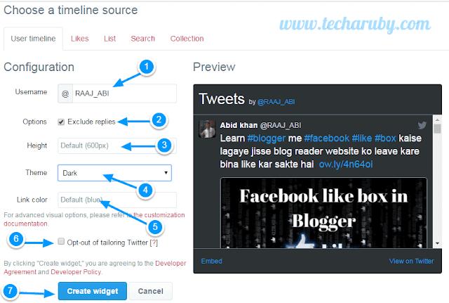 twitter widget html code