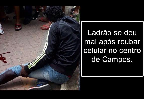 Ladrão é baleado no Centro de Campos dos Goytacazes