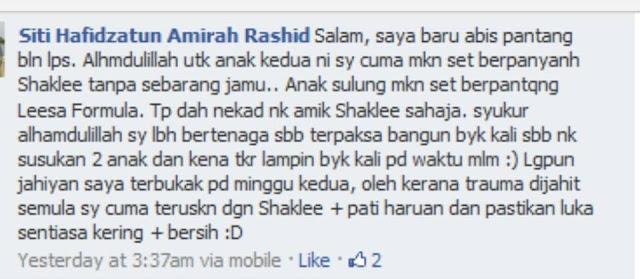 SHAKLEE BACHOK