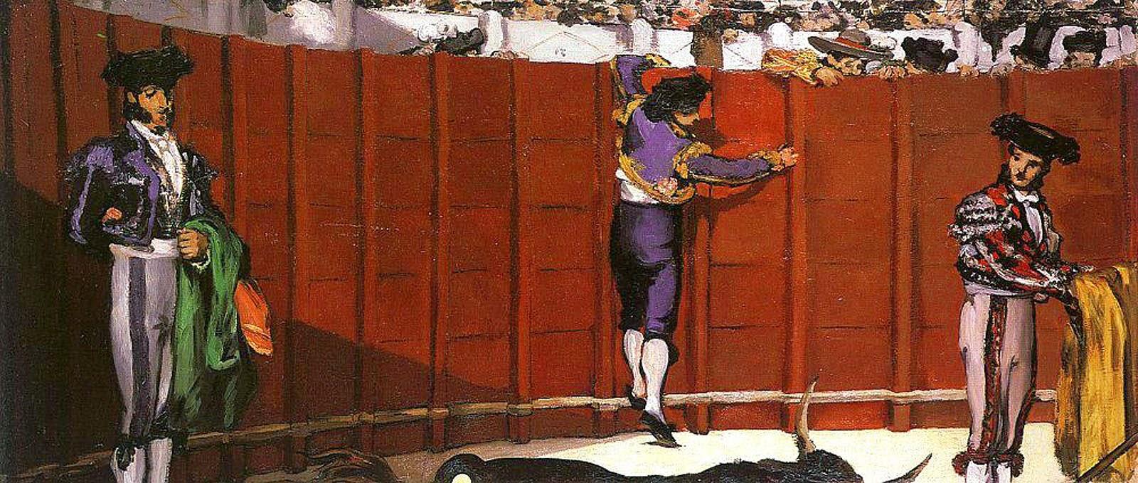 A Tourada - Pinturas impressionistas pintadas por Édouard Manet