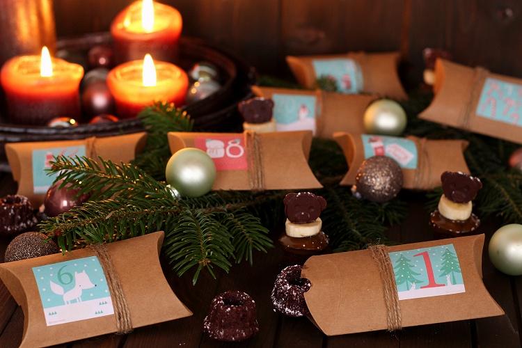 DIY/Tutorial Adventskalender aus Geschenkschachteln