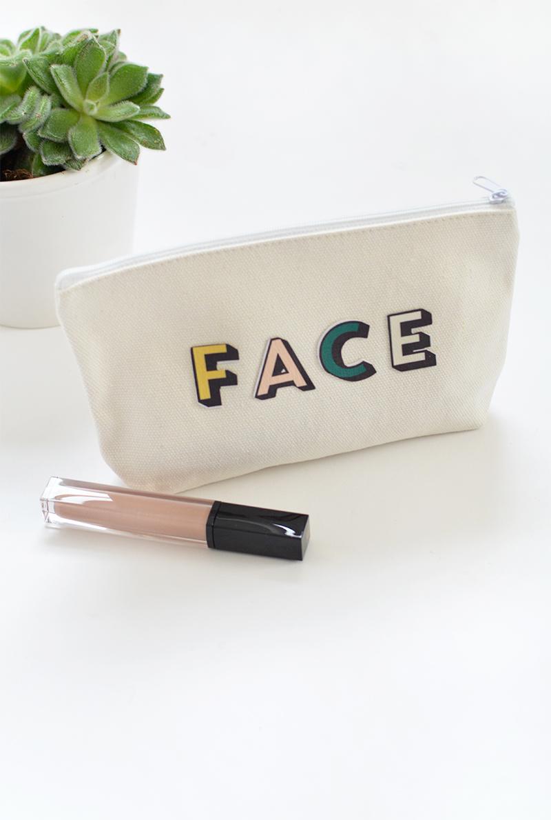 DIY monogram make up bag @burkatron