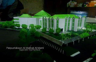 perencanaan perpustakaan al markaz Makassar