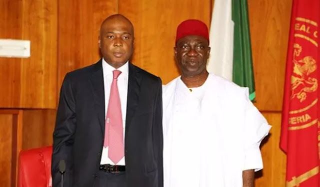 Senate President Bukola Saraki, and  his deputy Ike Ekweremadu
