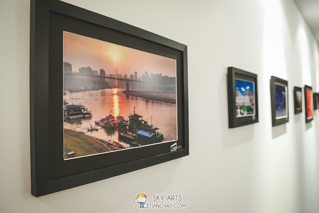 Photos captured using Lenovo VIBE Shot printed out and framed on the gallery wall