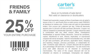 photo about Carters Printable Coupons called Carters Printable Discount coupons May possibly 2018 - Information Discount codes 2018