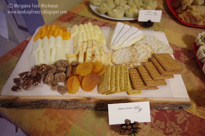Woodland Creature Baby Shower food cheese board