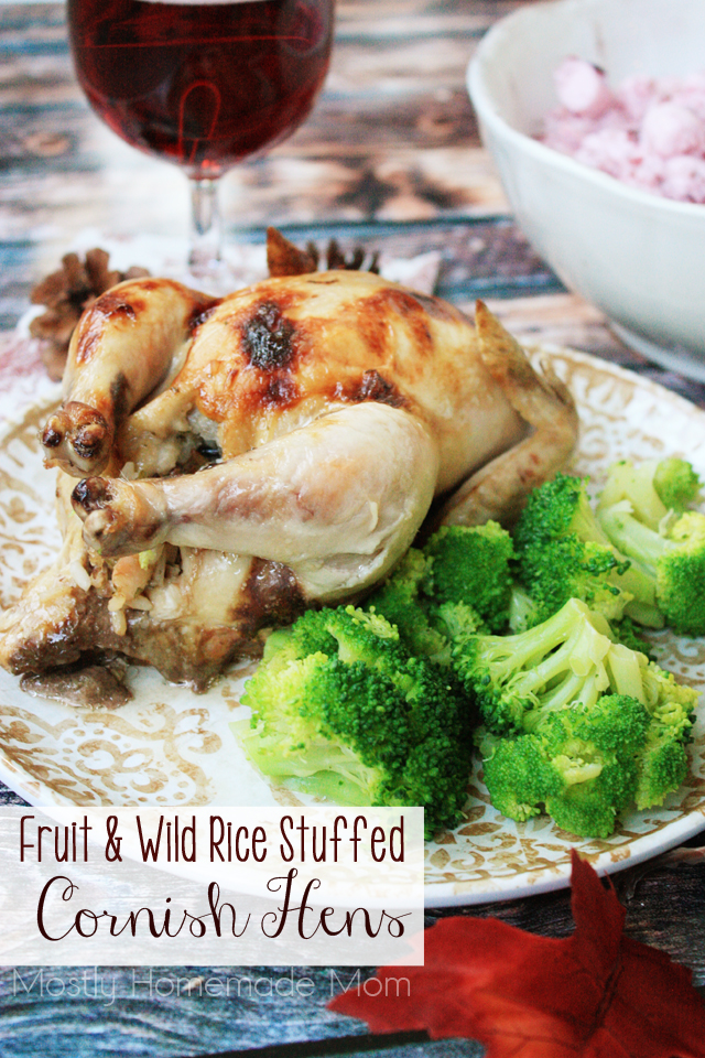 Cooking Cornish Hens with Fruit and Wild Rice Stuffing