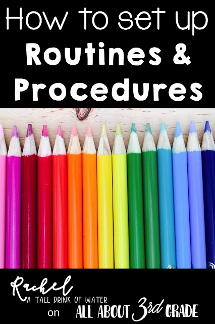 How to set up classroom routines and procedures in 3rd grade!