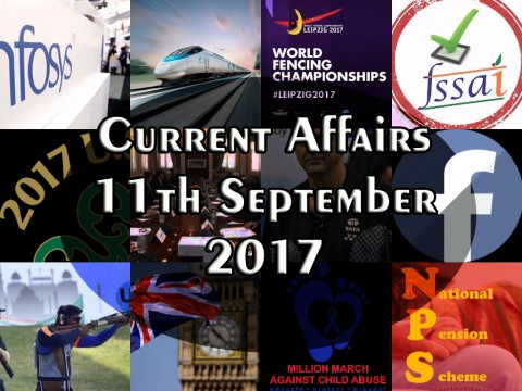 11th September 2017| Daily Current Affairs Updates