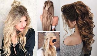 Εντυπωσιακά χτενίσματα μισά πάνω μισά κάτω για μακριά μαλλιά και όχι μόνο…