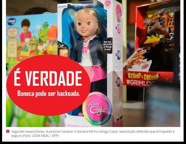 Boneca pode ser hackeada para espionar crianças, diz autoridades alemãs