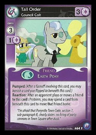 My Little Pony Tall Order, Council Colt Canterlot Nights CCG Card