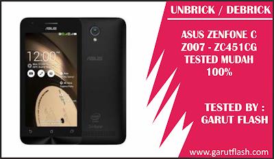 Cara Unbrick / Debrick Asus Zenfone C ZC451CG (Z007) Tidak Bisa Masuk Droidboot