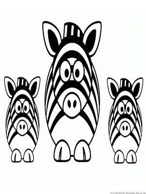 Zebra Coloring Page without Stripes