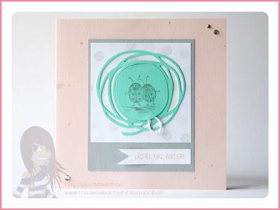 Stampin' Up! rosa Mädchen Kulmbach: Fotokarte mit Wortspielereien, Wunderbar verwickelt und love you lots