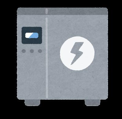 蓄電池のイラスト