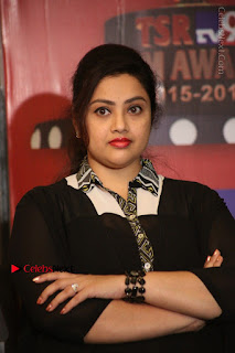 Tamil Actress Meena Latest Stills in Black Dress at TSR TV9 Awards Press Meet  0107.JPG