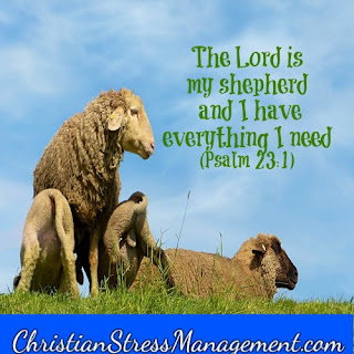 The Lord is my shepherd and I have everything I need Psalm 23:1