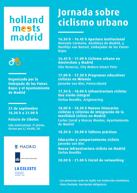 Programa de la Jornada «Holland meets Madrid»