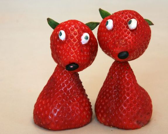 strawberry art decoration
