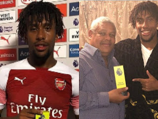 Alex Iwobi and his Father