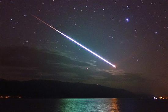 Fireball meteor