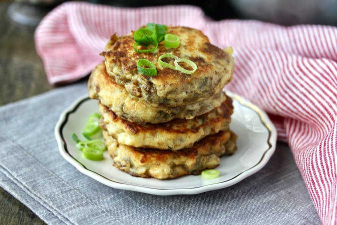 Leftover Mashed Potatoes and Stuffing Pancakes