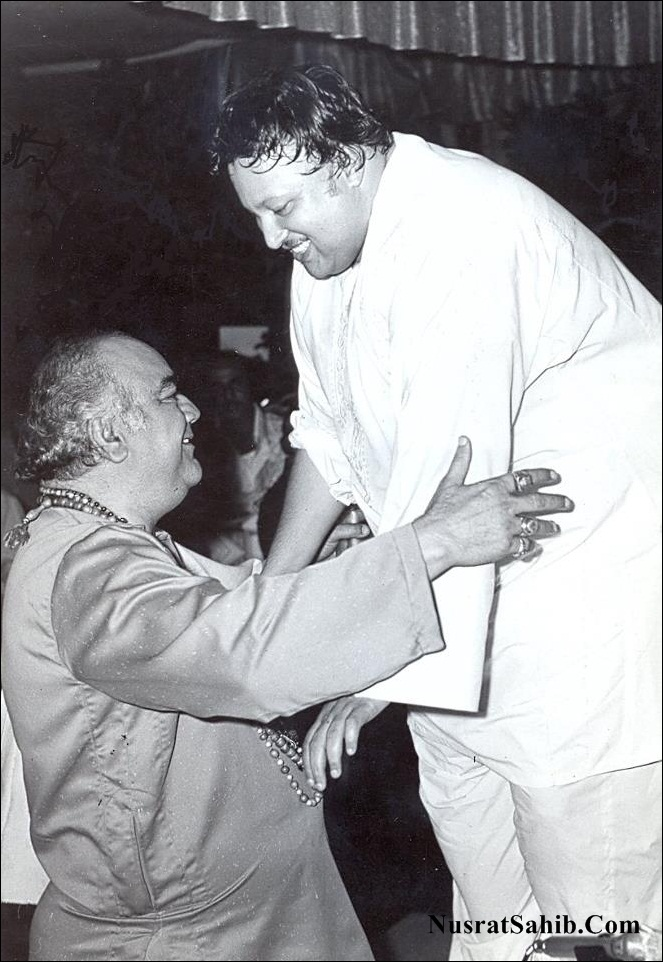 Bollywood Actor Prem Nath and Ustad Nusr