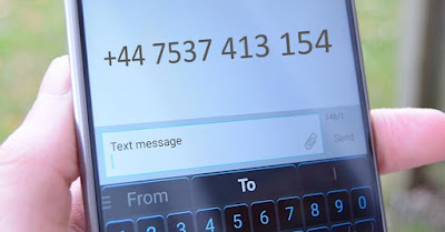 SMS service number