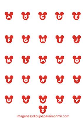Abecedario de mickey mouse para imprimir