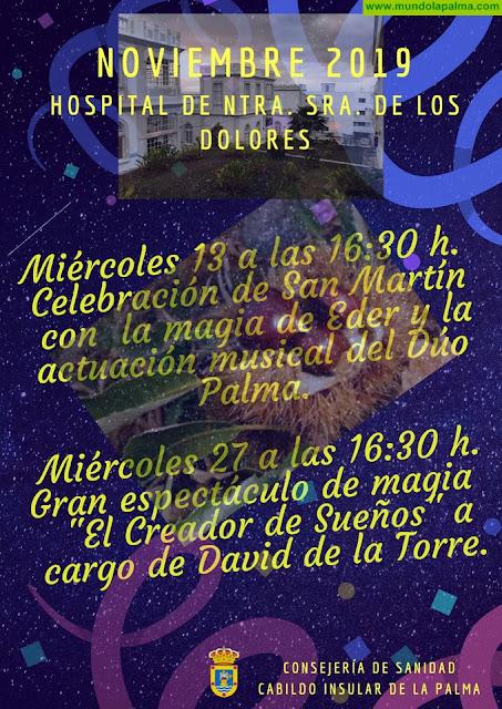 El Cabildo celebra una nueva jornada lúdica en el Hospital de Dolores con motivo de la festividad de San Martín