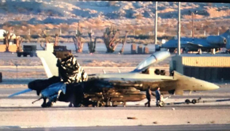 RAAF EA-18 Growler damaged in Nellis AFB incident