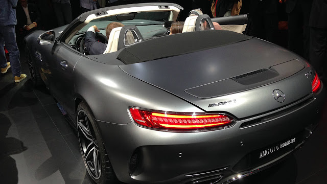 Debuts 2018 Mercedes-AMG GT C Roadster at PMS back view