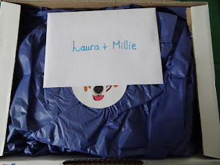 laura and millie letter in opened box