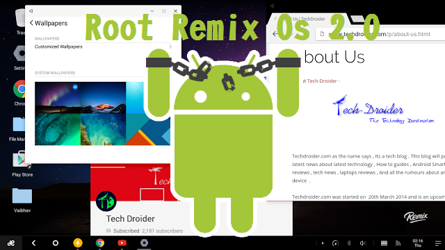 Pre-Rooted Img]How to Root Remix Os 2 0 1 for 32-bit PC