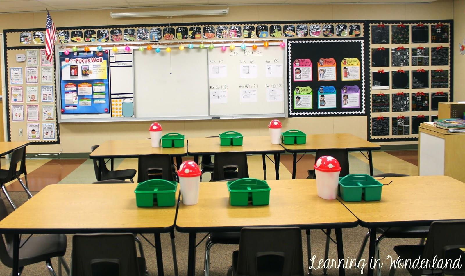 Modern Classroom Board ~ Classroom tour learning in wonderland