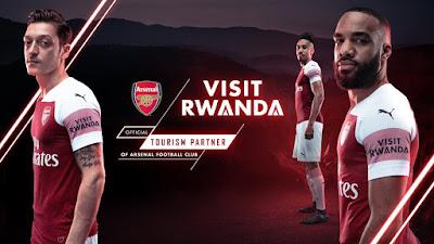 Mengenal Rwanda di Jersey Terbaru Arsenal Untuk Musim Depan Selama Tiga Tahun