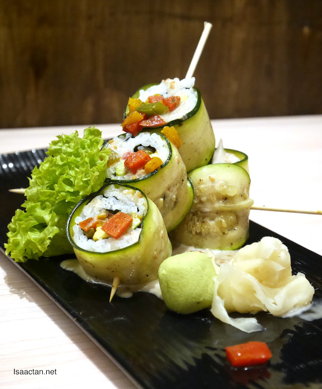 Sanoook Vegetarian Sushi Roll with Sesame Mayonnaise