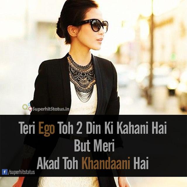 Girl High Attitude Status in Hind Image Dp