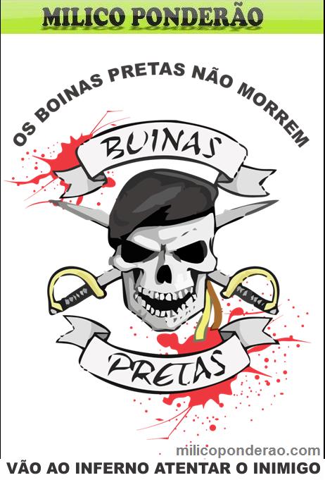 Milico Ponderão  BOINA PRETA!BRASIL! 7aba0862882